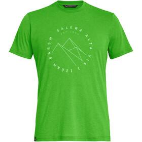 SALEWA Alta Via Dri-Release Camiseta Manga Corta Hombre, pale frog melange
